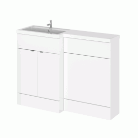 Photo of Hudson Reed Fusion Gloss White 1200mm Combo Unit