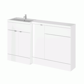 Hudson Reed Fusion Gloss White 1500mm Full Depth Combo Unit