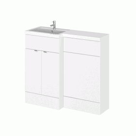 Hudson Reed Fusion Gloss White 1000mm Combo Unit