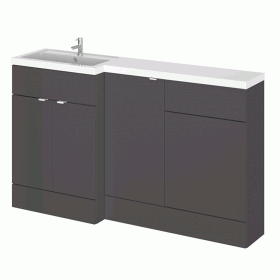Photo of Hudson Reed Fusion Gloss Grey 1500mm Combo Unit