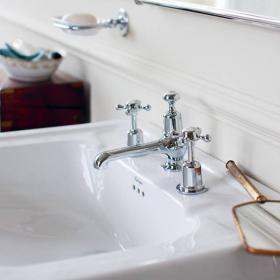 Burlington Claremont 3 Tap Hole Basin Mixer