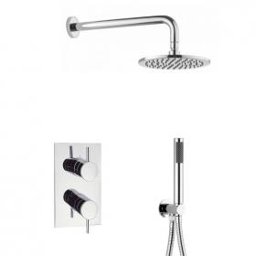 Crosswater Kai Shower Valve Pack with Fixed Head and Handset