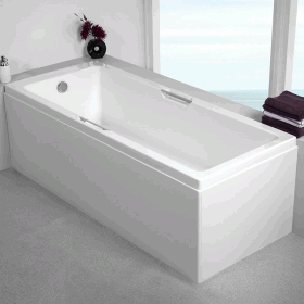 Photo of Carron Integra Twin Grip 1600 x 700mm Single Ended Bath