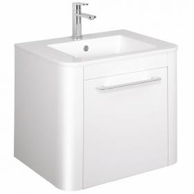 Bauhaus Celeste White Gloss 60 Vanity Unit & Ceramic Basin