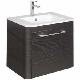 Bauhaus Celeste Black Ash 60 Vanity Unit & Ceramic Basin