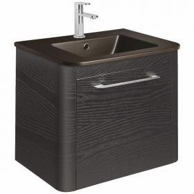 Bauhaus Celeste Black Ash 60 Unit & Plus+Ton Black Ceramic Basin