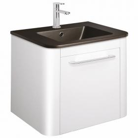 Bauhaus Celeste White Gloss 60 Unit & Plus+Ton Ceramic Basin
