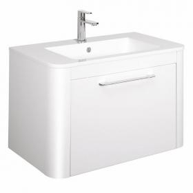 Bauhaus Celeste White Gloss 80 Vanity Unit & Basin