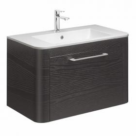 Bauhaus Celeste Black Ash 80 Vanity Unit & Ceramic Basin