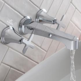 Photo of Crosswater Celeste Wall Mounted 3 Hole Basin Tap