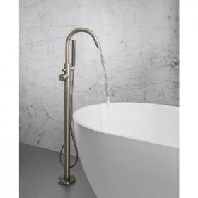 Photo of Crosswater MPRO Brushed Stainless Steel Floorstanding Bath Shower Mixer