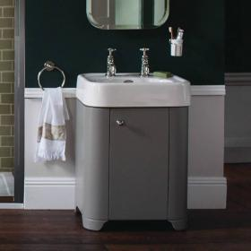 Arcade Dark Olive 600mm Floorstanding Vanity Unit & Basin
