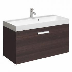 Bauhaus Design Plus 100 Walnut Drawer Unit & Marble Basin