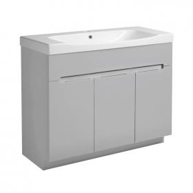 Photo of Roper Rhodes Diverge Gloss Light Grey 1000mm Freestanding Vanity Unit & Basin