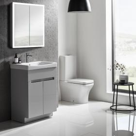 Roper Rhodes Diverge Gloss Light Grey 600mm Freestanding Vanity Unit & Basin