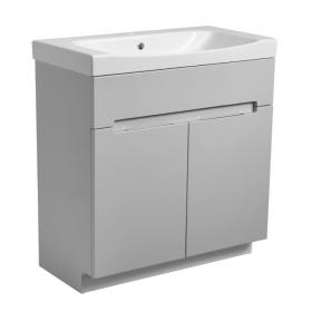 Photo of Roper Rhodes Diverge Gloss Light Grey 800mm Freestanding Vanity Unit & Basin