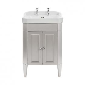 Heritage Caversham Freestanding Dove Grey Vanity Unit & Granley Basin