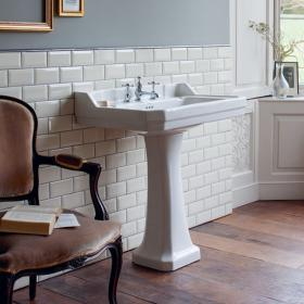 Burlington Edwardian 800mm Basin & Pedestal