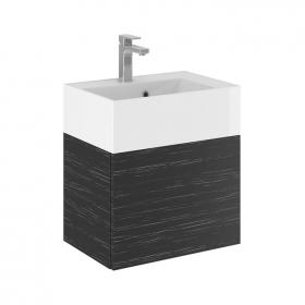 Bauhaus Elite 50 Graphite Wood Vanity Unit & Basin