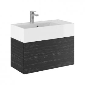 Bauhaus Elite 70 Graphite Wood Vanity Unit & Basin