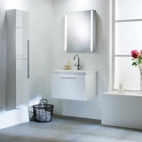 Roper Rhodes Envy 700mm White Wall Mounted Unit & Basin