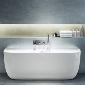 Photo of Victoria + Albert Eldon Back To Wall Freestanding Bath