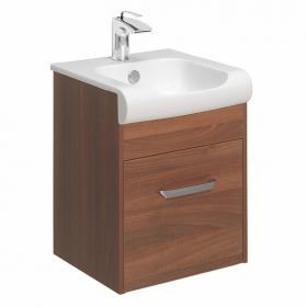 Bauhaus Essence Walnut 40 Vanity Unit & Basin