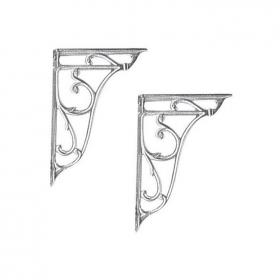 Hudson Reed Chrome Ornate Cistern Brackets