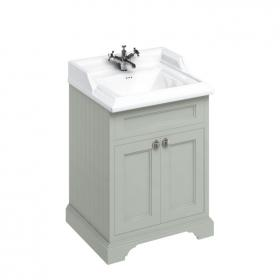 Burlington Olive 650mm Freestanding Unit & Classic Basin