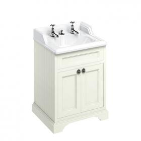 Burlington Freestanding 650mm Sand Vanity Unit with Classic Invisible Overflow Basin