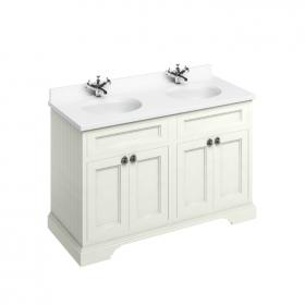 Photo of Burlington Sand 1300mm Freestanding Double Vanity Unit, Worktop & Basin