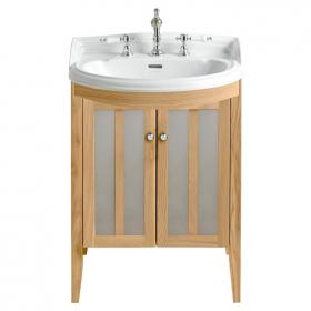 Heritage Dorchester Medium Basin & Hidcote Oak Freestanding Vanity Unit
