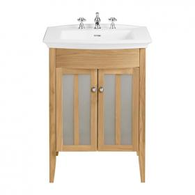 Heritage Blenheim Basin & Hidcote Freestanding Oak Finish Vanity Unit