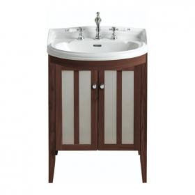 Heritage Dorchester Medium Basin & Hidcote Walnut Freestanding Vanity Unit