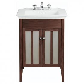 Heritage Blenheim Basin & Hidcote Freestanding Walnut Finish Vanity Unit