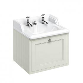 Burlington Sand Wall Hung Vanity Unit with Invisible Overflow Basin