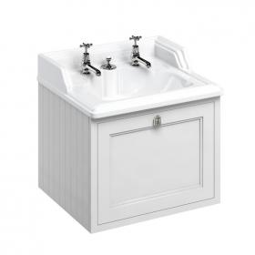 Burlington Matt White Wall Hung Vanity Unit with Invisible Overflow Basin