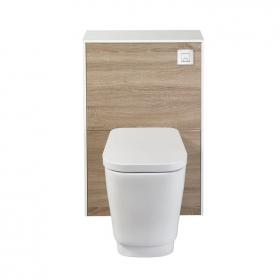 Frontline Aquanatural Modern Oak WC Unit with Bellisi Back to Wall Toilet