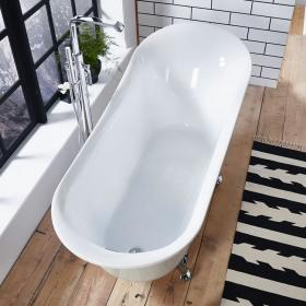 Frontline Holborn Belmont 1700 x 710mm Single Ended Slipper Bath