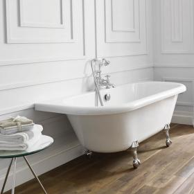 Frontline Holborn Kildwick 1700 x 750mm Back to Wall Freestanding Bath