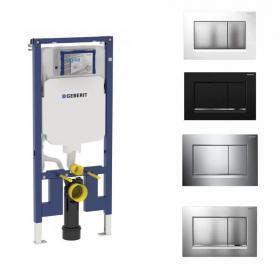 Geberit Duofix Reduced Concealed WC Frame Inc Sigma30 Flush Plate