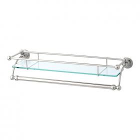 Photo of Perrin & Rowe Traditional 510mm Glass Shelf with Towel Rail