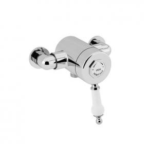 Heritage Glastonbury Exposed Shower Valve with Bottom Outlet Chrome Finish