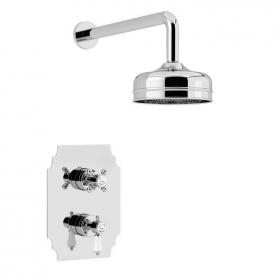 Heritage Glastonbury Recessed Shower with Premium Fixed Head Kit Chrome Finish