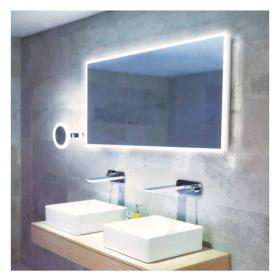 HIB Globe 120 LED Ambient Bathroom Mirror