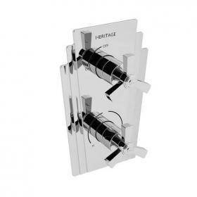 Heritage Gracechurch Recessed Shower Valve with Integral Two Outlet Diverter Chrome Finish