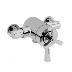 Heritage Gracechurch Exposed Shower Valve with Bottom Outlet Chrome Finish
