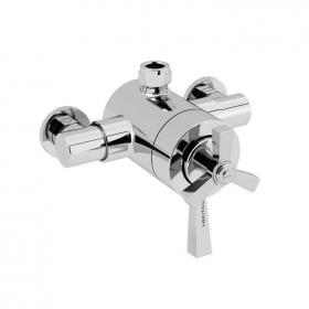 Heritage Gracechurch Exposed Shower Valve with Top Outlet Chrome Finish