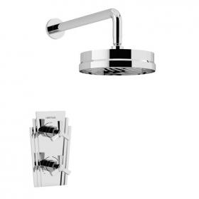 Heritage Gracechurch Recessed Shower with Deluxe Fixed Head Kit Chrome Finish