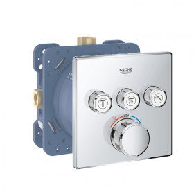 Grohe Grohtherm SmartControl Triple Outlet Thermostatic Square Shower Valve
